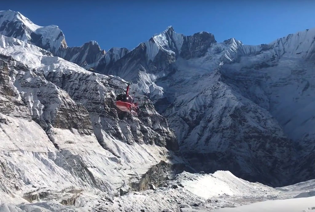 Everest Base Camp Fly Over