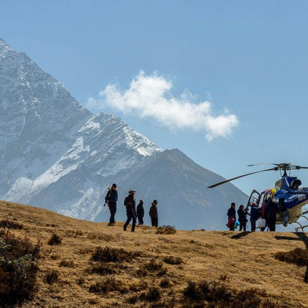 Everest base camp by Helicopter