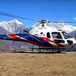 Everest base camp fly over by Helicopter
