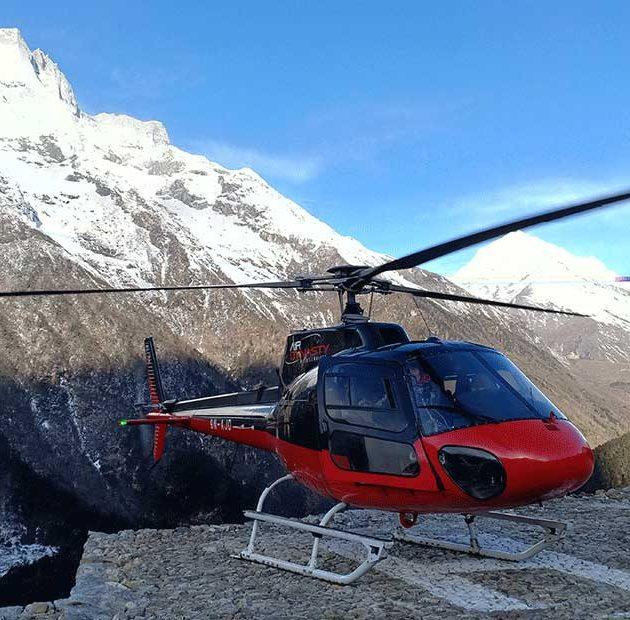 gorakshep to lukla helicopter