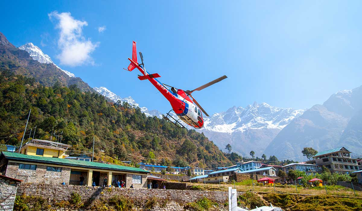 lukla to everest helicopter