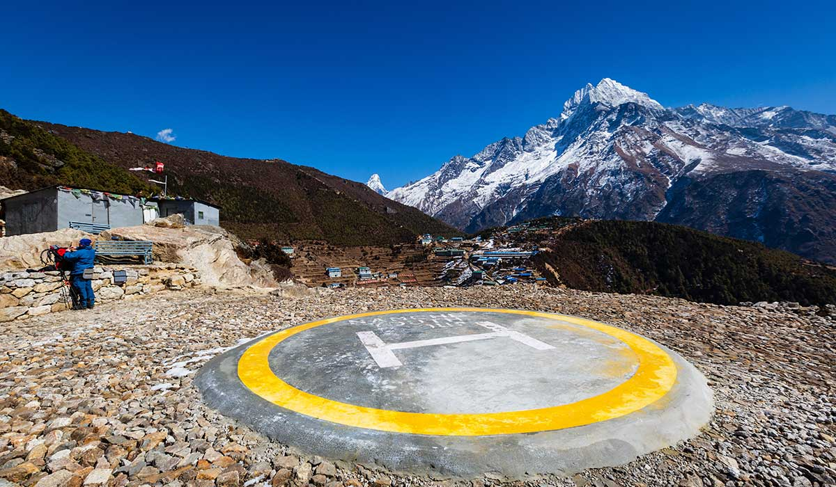 namche to everest helicopter